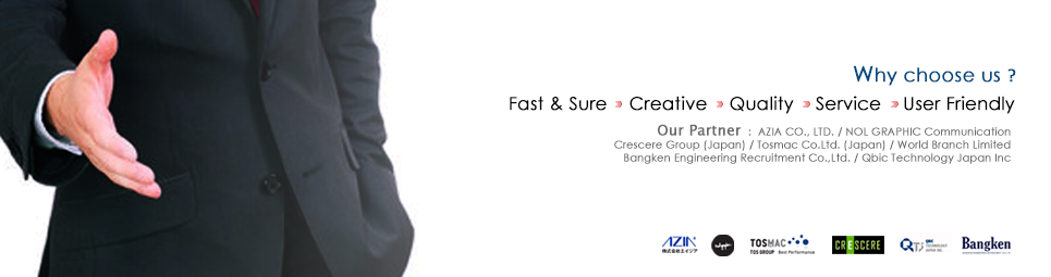 Fast & Sure, Creative, Quality, Service, User Friendly